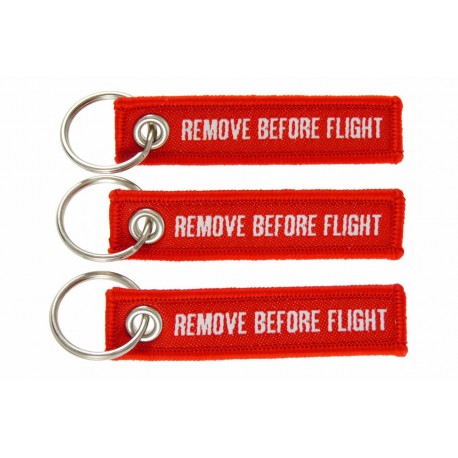 SET 3 pcs. Embroidered Mini-Keychain REMOVE BEFORE FLIGHT