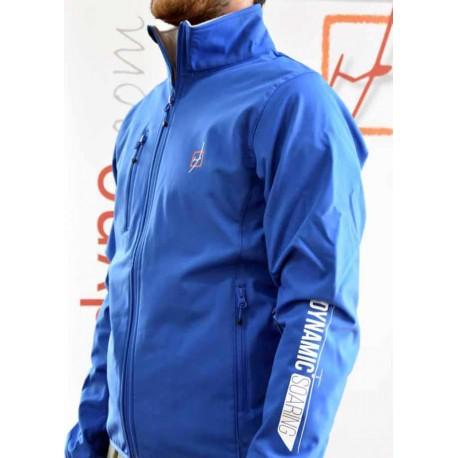 """Gliding"" Softshell embroidered jacket - Blue dark navy"