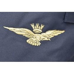 Borsa portacasco da volo nera con tracolla - ricamate con Aquila Aeronautica Militare