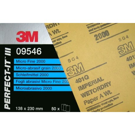 3M 09545 Wet & Dry Perfect it Sand Paper - 1500 Grit