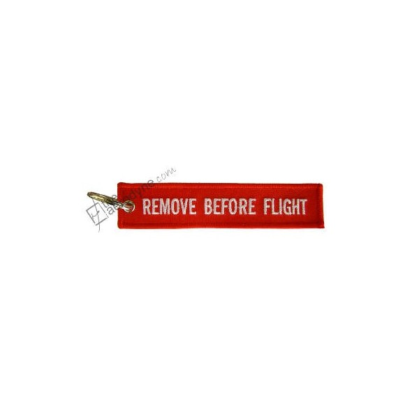 Remove Before Flight Embroidered Keychain The Aerodyne Com