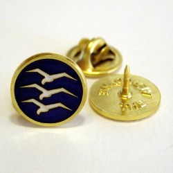 Gliding badges blue gold-plated