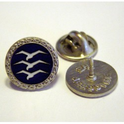 Gliding badges blue silver-plated with box