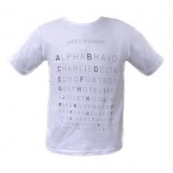 T-SHIRT Pilot's Alphabet - alfabeto ICAO