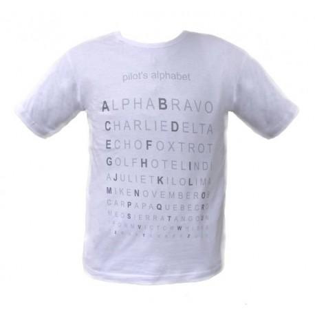 T-SHIRT Pilot's Alphabet - ICAO aviation alphabet