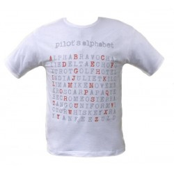 "T-SHIRT Pilot's Alphabet ""Typewriter"" - alfabeto ICAO"