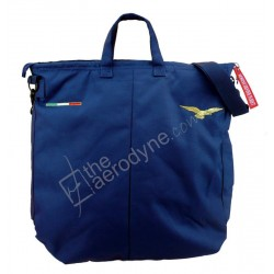 Flight helmet bag with shoulder belt - black. Embroidered with civilian pilot eagle