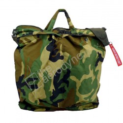 Flight helmet bag with shoulder belt - classic woodland camo
