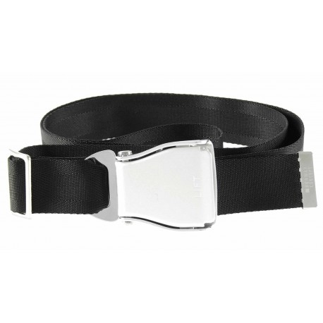 Airline style seat belt for trousers -  black