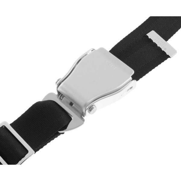Airline Style Seat Belt For Trousers Black The
