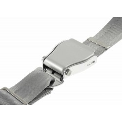 Airline style seat belt for trousers -  grey